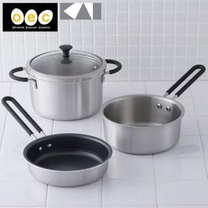 貝印 o.e.c. minima ミニマ 3点セット ガラス蓋付き キッチンツール 調理器具 送料無料 あすつく kai oec|cooking-clocca