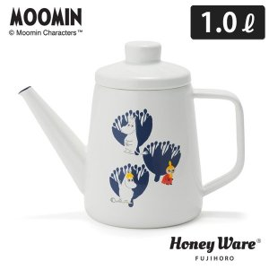 MOOMIN ムーミン&フラワー  ドリップポット 1.0L MTA-1.0DP ポーセリンエナメル|cooking-clocca