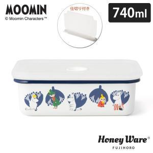 MOOMIN ムーミン&フラワー 密閉 ランチボックス M MTA-LBM ポーセリンエナメル 富士ホーロー cooking-clocca