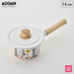 ムーミン フォレスト ミルクパン 14cm 蓋付き IH対応 MTF-14M 富士ホーロー ホーロー鍋 送料無料|cooking-clocca