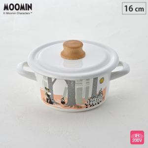 ムーミン フォレスト キャセロール 16cm IH対応 MTF-16W 富士ホーロー 調理器具 送料無料|cooking-clocca