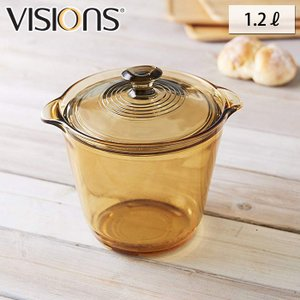 VISIONS ビジョン クリア クックポット 1.2L  VSF-12STW/J ガラス鍋 送料無料 cooking-clocca