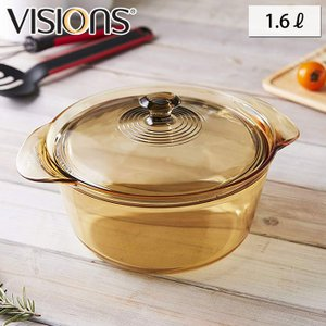 VISIONS ビジョン クリア クックポット 1.6L  VSF-16/J 耐熱ガラス鍋 送料無料|cooking-clocca