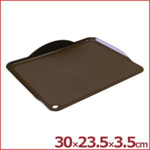 ポリプロピレン 居間板 ブラウン 30×23.5cm 薄型まな板 カッティングボード フチ付き 水受け 傾斜 cookwares