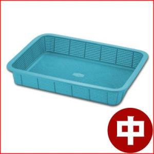 セキスイ メロウタイム 角かご浅型 中 29.5×39×高さ13cm ブルー K542B2 抗菌 食器水切り 野菜水切り 清潔 衛生 cookwares