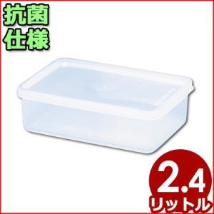 電子レンジ対応保存容器 トンボ シールウェア 300×155×H70mm 2.4L OA-1 角型(※蓋付き)食材ストッカー 保存ケース 保管ケース 抗菌仕様保存容器|cookwares