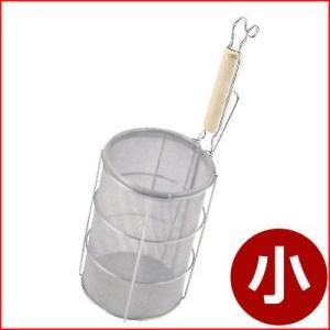 麺の湯切り 木柄 スパゲティーてぼ 小 Φ13×19cm パスタの湯上げ・湯切り 茹で上げ麺湯切り パスタ湯切り 手つき煮ざる てぼざる|cookwares