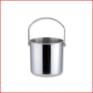 セレクテッド アイスペール Φ12.7×高さ12.5cm 目皿付 18-8ステンレス製 氷入れ アイス 容器 お酒 ドリンク ジュース 飲み物 冷たい 丈夫 シンプル 定番|cookwares