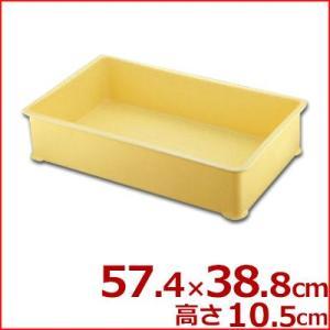 サンコー プラスチック製 番重(ばんじゅう) 蓋なし A型 57.4×38.8×高さ10.5cm バット 入れ物 容器 コンテナ 運搬 持ち運び 保存 保管 シンプル|cookwares