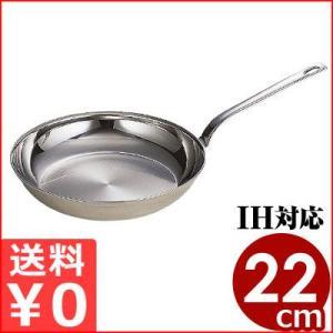 ロイヤル クラデックスフライパン 22cm IH対応 18-10ステンレスフライパン 業務用の耐久性に優れたフライパン cookwares