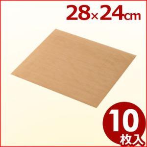 ベーキングシート 28×24cm 10枚セット 繰り返し使用可能 オーブン調理用シート クッキングシ...