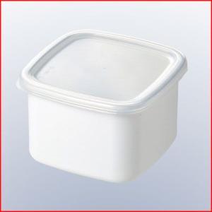 ホーロー容器 ホワイトシリーズ スクウェアM シール蓋付 WS-M 金属製キャニスター 食品の保存、保管容器|cookwares