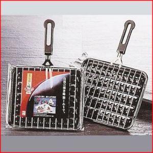ホーロー魚焼器 まんねん焼 M-1A (M-1) ハンドル・水受け皿つき グリル焼き網 焼き魚 ガスコンロ用 定番 魚グリル 輻射熱 魚焼き器|cookwares