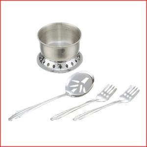 湯豆腐セット 中子・スプーン・フォーク2本 タレ入れ 穴開きじゃくし お玉|cookwares