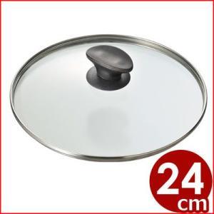 MTI 強化ガラスぶた Gタイプ Φ24cm ステンレスぶた 鍋蓋 なべぶた フライパンカバー フライパン蓋|cookwares