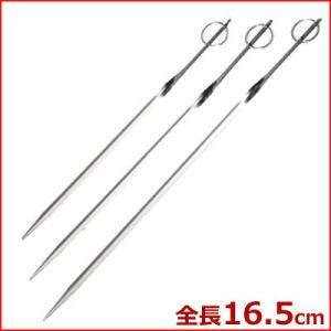 焼き串 プロセット 16.5cm TS-36 リング付き 18-8ステンレス製 刺す 棒 アウトドア キャンプ|cookwares