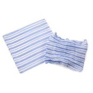 くーる&ほっと 昔ながらのレーヨン袋あかすり 日本製(群馬県で製造)2枚組(ピンク&ブルー)|cool-and-hot|05