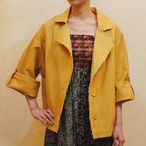 XS〜XLサイズ【セレクト商品】ビッグシルエット◆マスタードイエローのジャケット|cool-klothes