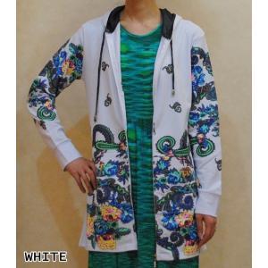 XS〜Lサイズ【セレクト商品】フラワーペイズリープリント◆フード付きジップパーカー|cool-klothes