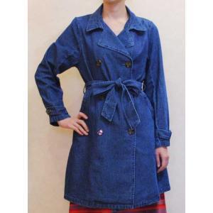 S〜Lサイズ【セレクト商品】綿100%柔らかなデニムインディゴのトレンチコート|cool-klothes