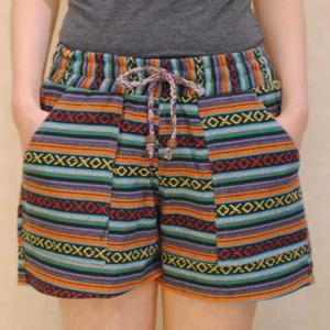 S〜L【オリジナルセレクト商品】ガテマラ民族織◆ショートパンツ  |cool-klothes
