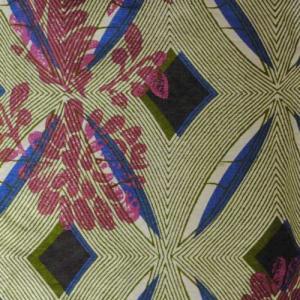 S〜Lサイズ【セレクト商品】モスグリーンの幾何にボタニカルプリント◆ガウチョパンツ  cool-klothes 03
