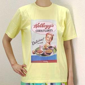 S〜Lサイズ【オリジナルセレクト商品】ヴィンテージケロッグコーンフレークのパッケージ◆Tシャツ|cool-klothes
