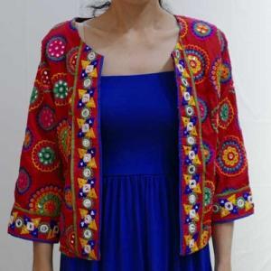 S〜Lサイズ【Cool Klothesオリジナル】インド民族刺繍ミラーワーク◆古布のジャケット|cool-klothes