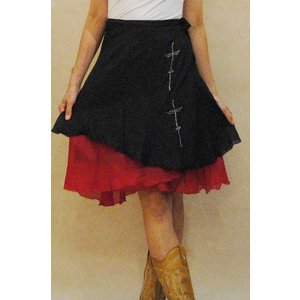 M〜XLサイズ【アメリカ製古着】1960年代ヴィンテージ◆シルク素材のダブルフェイス◆ミドル丈巻きスカート【中古】|cool-klothes