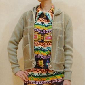 S〜Lサイズ【アメリカ製古着】ヴィンテージ◆スエードのパッチワーク◆フード付きジャケット【中古】|cool-klothes