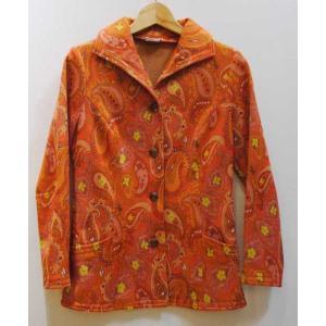 XS〜Mサイズ【アメリカ製古着】1960年代ヴィンテージ◆オレンジにペイズリー◆ジャケット【中古】アメリカ買い付け|cool-klothes