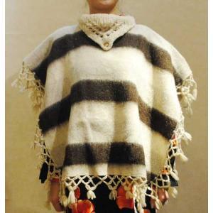 フリーサイズ【アメリカ製古着】ヴィンテージ◆ウール起毛◆ネイティブ調ポンチョ【中古】◆|cool-klothes