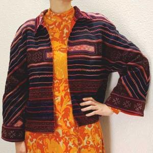 S〜Lサイズ【アメリカ製古着】リアルオールドモン族民族衣装◆クロスステッチ◆古布◆ジャケット【中古】|cool-klothes