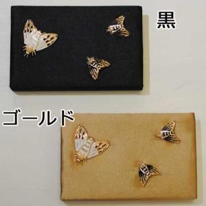 【セレクト商品】サテン生地にゴールドのセミ◆2wayバッグ|cool-klothes