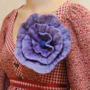 オリジナルハンドメイド【mesadu】羊毛フェルト◆大きなお花のコサージュ|cool-klothes