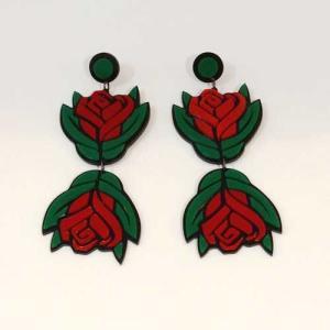 【オリジナルセレクト商品】大輪のバラの花◆個性派◆ピアス|cool-klothes