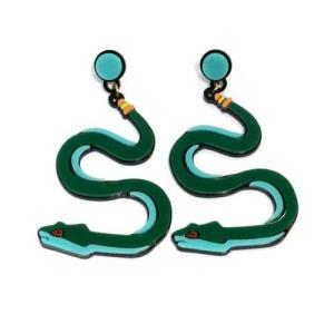 【オリジナルセレクト商品】ブルーとグリーンのスネークピアス◆個性派◆ピアス|cool-klothes