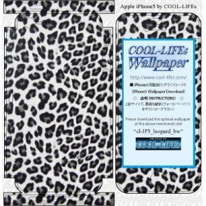 iPhone アイホン アイフォン 5 スキン シール  カバー COOL-LIFEsデザイン日本製 leopard_bw|cool-lifes