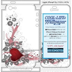 iPhone 5s アイホン アイフォン スキン,シール,カバー COOL-LIFEsデザイン日本製 wild_hearts|cool-lifes