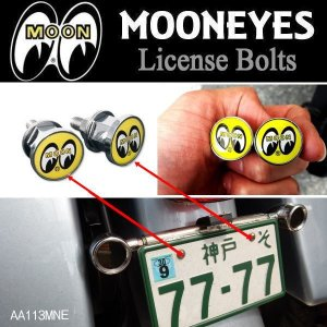 MOONEYES ムーンアイズ Eyeball ライセンス ボルト License Bolts 2個セット AA113MNE|coolbiker-second