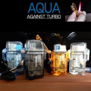 ツインライト AQUA TURBO LIGHTER ターボライター AGAINST TURBO 風・水に強い|coolbiker-second