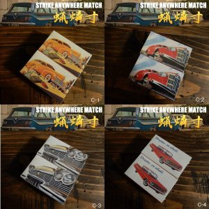 「S.A.W.」STRIKE ANYWHERE MATCH ロウマッチ 蝋燐寸 アメ車(2個入り)|coolbiker-second