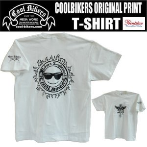 【Tシャツ】COOLBIKERS クールバイカーズ オリジナル サングラス (ホワイト)|coolbiker-second