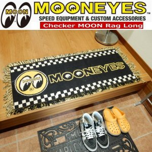MOONEYES Floor Mats Checker ムーンアイズ フロア マット ラグマット チェッカー ロング|coolbiker-second