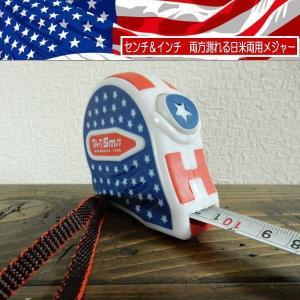 USA MEASURING TAPE  センチ インチ 両方測れる日米両用メジャー cmもinchもこれひとつで測れます 5m/16ft|coolbiker-second