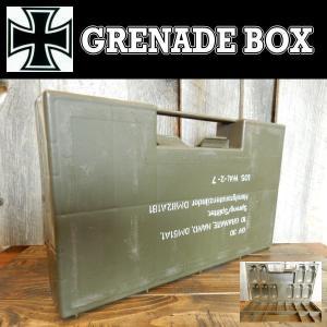 ドイツBW グレネードケース GRENADE BOX 手榴弾 プラスチック ミリタリー 工具入れに (本物中古)|coolbiker-second