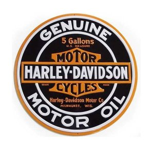 HARLEY-DAVIDS0N STEEL SIGN ハーレーオイルスチールサイン・H-D Oil Round (No.1)|coolbiker-second