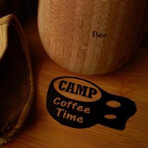 木製のカップ ククサ 珈琲 CAMP コーヒータイム COFFE TIME キャンプ 文字だけが残る...