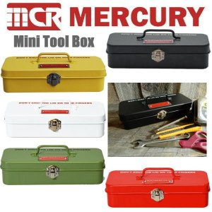 Mercury マーキュリー ミニツールボックス 小物入れ ペンケース 工具箱 小物収納 収納ボックス 卓上|coolbiker-second