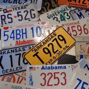 【本物】USED アメリカで実際に使われていたUSEDナンバープレート Number Plate|coolbiker-second
